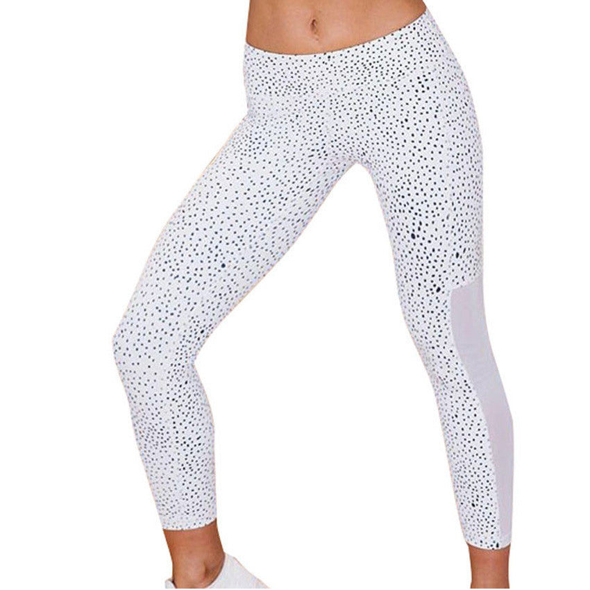 Dotted Yoga Fitness Leggings
