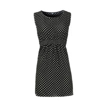 Casual Dot Chiffon O-Neck Sexy Sleeveless