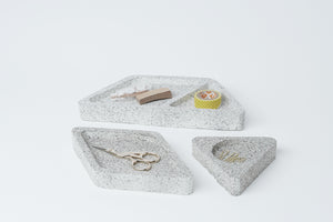 office set of trays | light stone