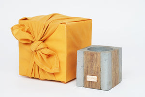 4D wood|concrete GIFT | yellow