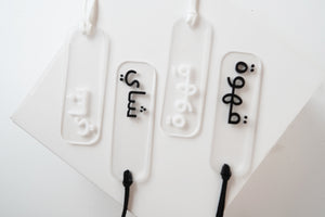 acrylic Coffee|tea tags , light font