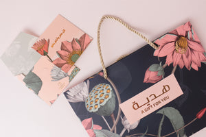 ANG bag هديه gift for you blue|floral