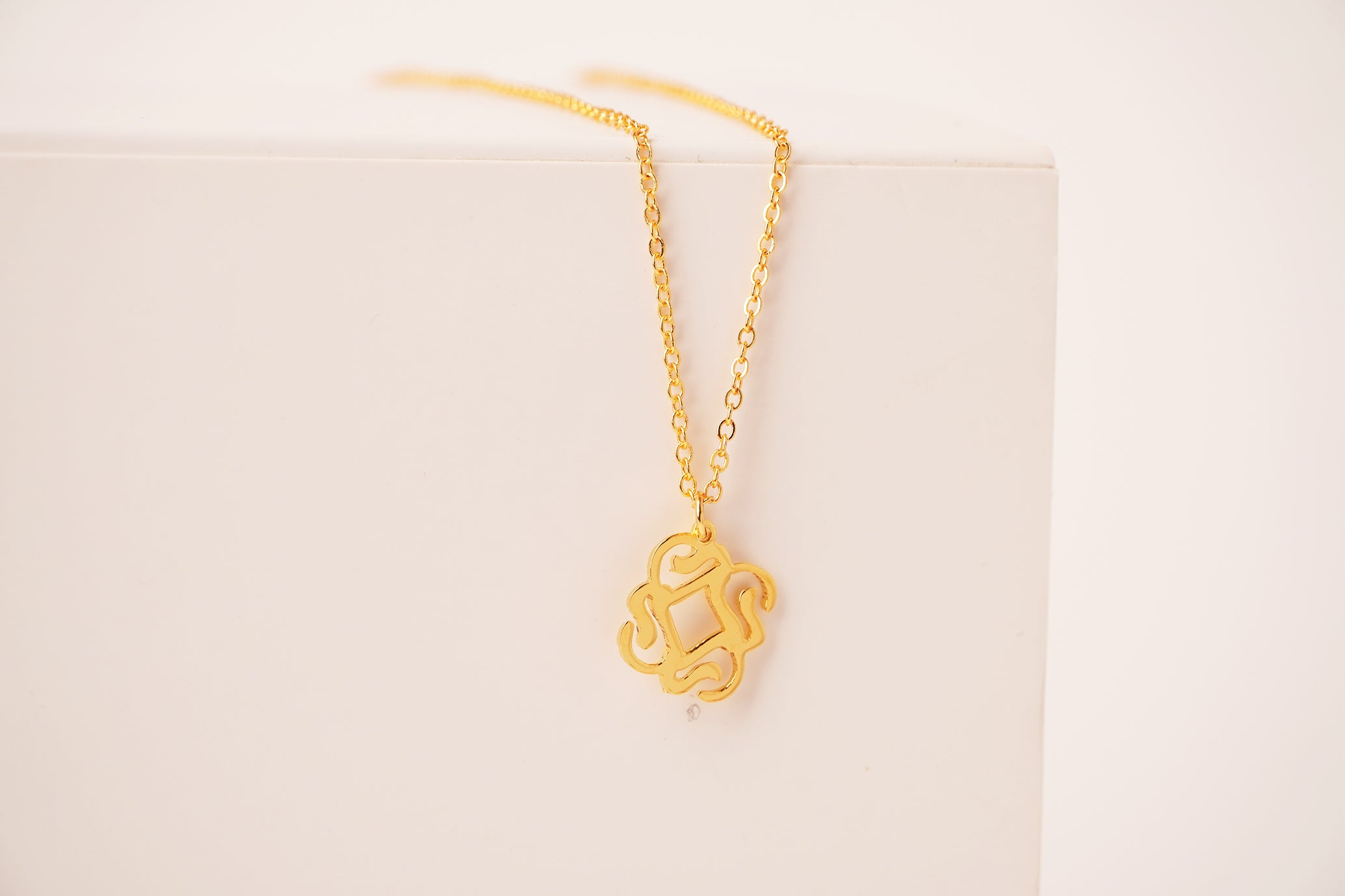 WA Arabic calligraphy  necklace