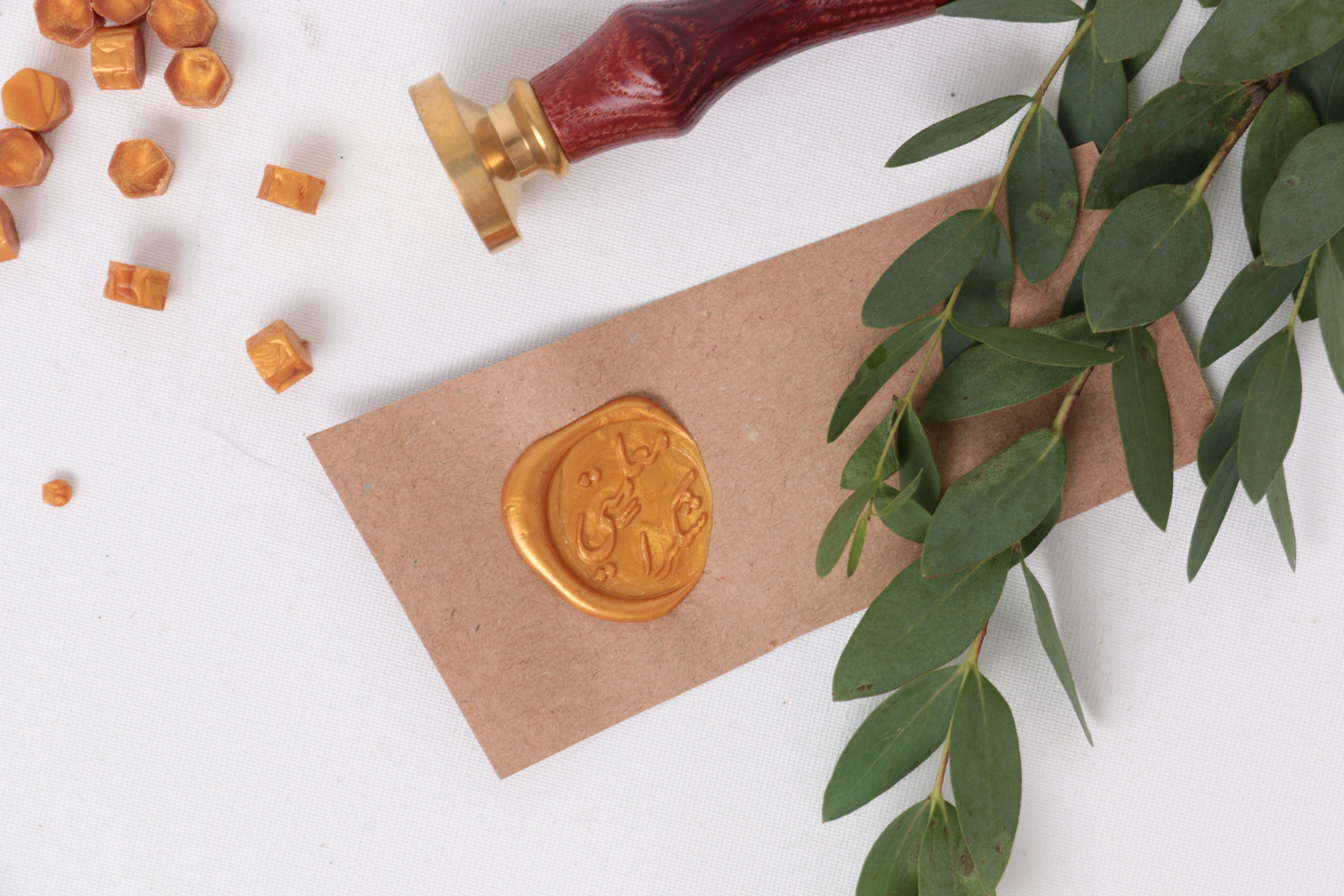 wax stamp tag