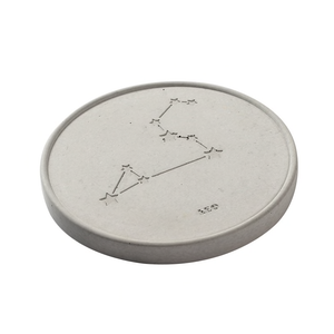 12 Horoscope Concrete Disc Coaster