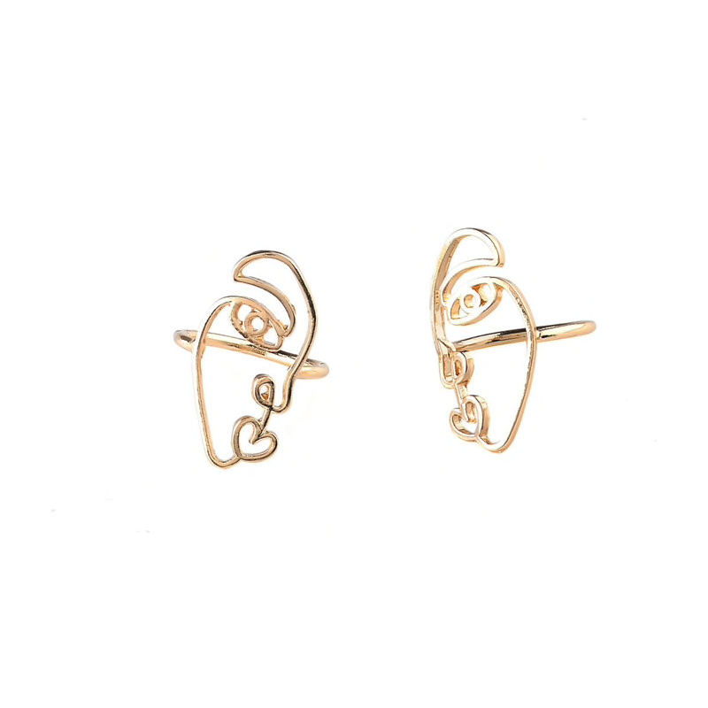 face abstract ringS SET