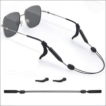 Load image into Gallery viewer, Adjustable Wire Sunglasses Retainer - Black - Sunglasses