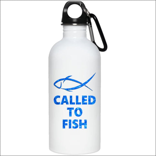 Called to Fish 20 oz. Stainless Steel Water Bottle - White / One Size - Drinkware