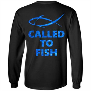 Called to Fish Long Sleeve HEAVY Ultra Cotton T-Shirt - 2 Colors - Black / S - T-Shirts