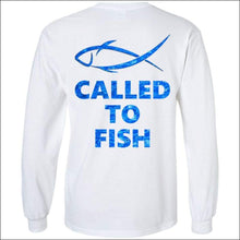 Load image into Gallery viewer, Called to Fish Long Sleeve HEAVY Ultra Cotton T-Shirt - 2 Colors - White / S - T-Shirts