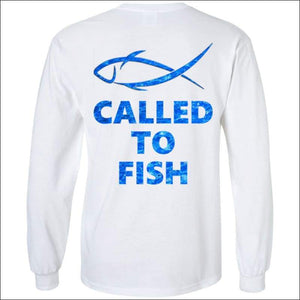Called to Fish Long Sleeve HEAVY Ultra Cotton T-Shirt - 2 Colors - White / S - T-Shirts