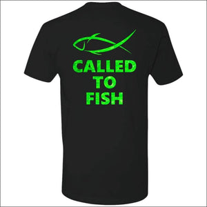 Called to Fish Premium Short Sleeve T-Shirt - 8 Colors - Black/Green / X-Small - T-Shirts