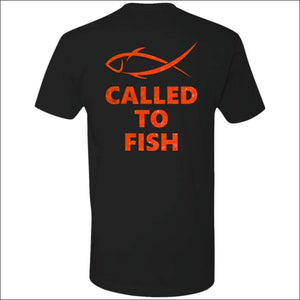 Called to Fish Premium Short Sleeve T-Shirt - 8 Colors - Black/Red / X-Small - T-Shirts