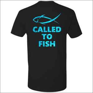 Called to Fish Premium Short Sleeve T-Shirt - 8 Colors - Black/Teal / X-Small - T-Shirts