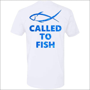 Called to Fish Premium Short Sleeve T-Shirt - 8 Colors - White/Blue / S - T-Shirts
