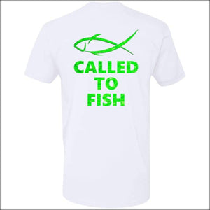 Called to Fish Premium Short Sleeve T-Shirt - 8 Colors - White/Green / X-Small - T-Shirts
