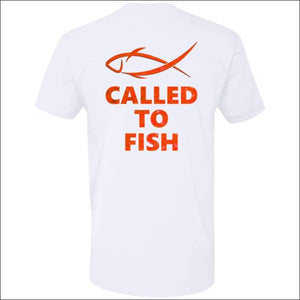 Called to Fish Premium Short Sleeve T-Shirt - 8 Colors - White/Red / X-Small - T-Shirts