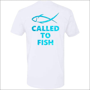 Called to Fish Premium Short Sleeve T-Shirt - 8 Colors - White/Teal / X-Small - T-Shirts