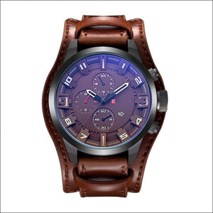 Fashion Dress Watch - 5 Colors - Brown / Brown - Watch