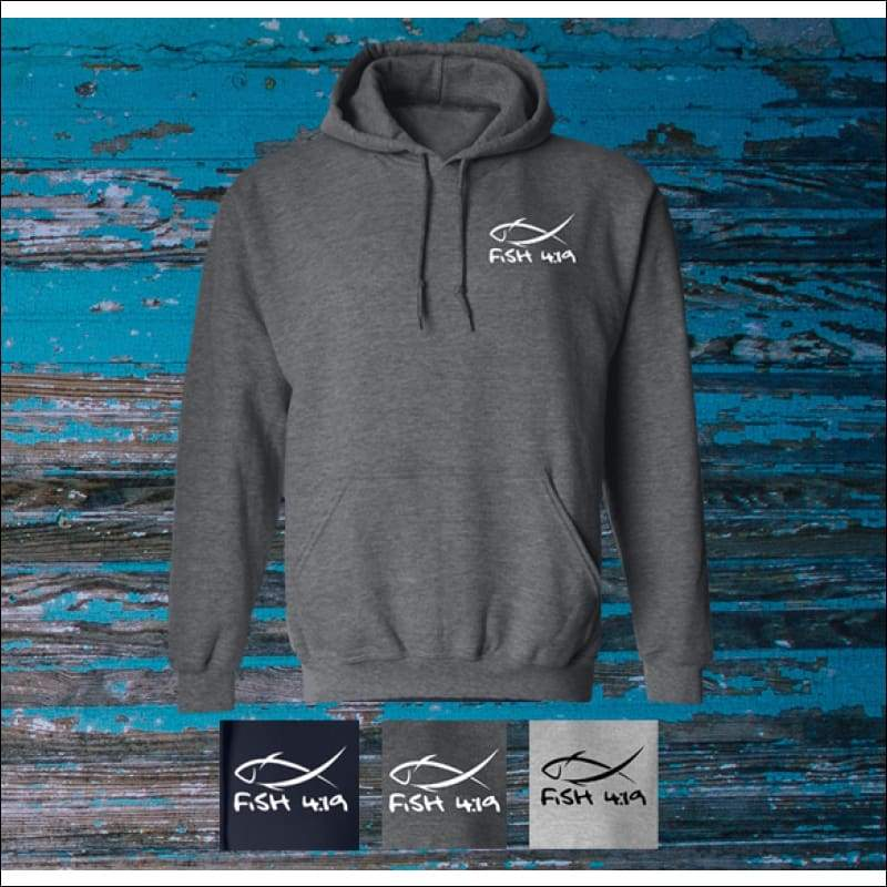 Fish 419 Classic Design Hoodie - 3 Colors - Sweatshirts
