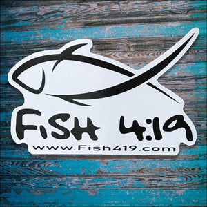 Fish 419 Decal Small 3.5 x 2.5 - Decal