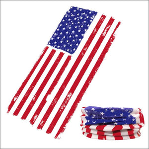 Fish 419 Fishing Sun Gaiter - 9 Designs - American Flag - Gaiter