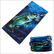 Load image into Gallery viewer, Fish 419 Fishing Sun Gaiter - 6 Designs - Bass - Gaiter