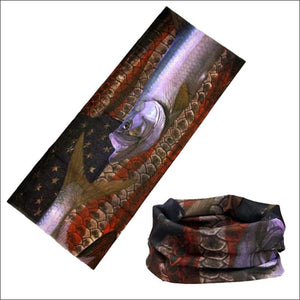 Fish 419 Fishing Sun Gaiter - 9 Designs - Tarpon & American Flag - Gaiter