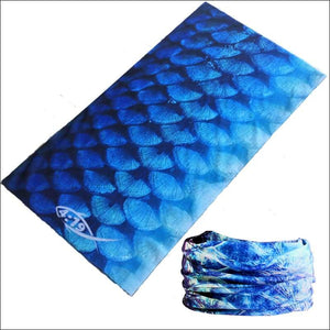 Fish 419 Fishing Sun Gaiter - 9 Designs - Tarpon Blue - Gaiter