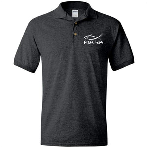 Fish 419 Performance Polo - Dark Heather / S - Polo Shirts