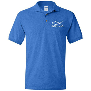 Fish 419 Performance Polo - Royal / S - Polo Shirts