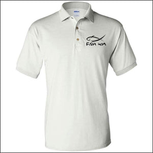 Fish 419 Performance Polo - White / S - Polo Shirts