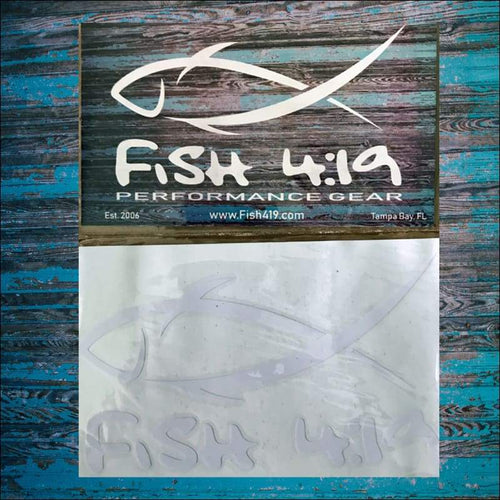 Fish 419 Window Decal Medium 6 - Decal