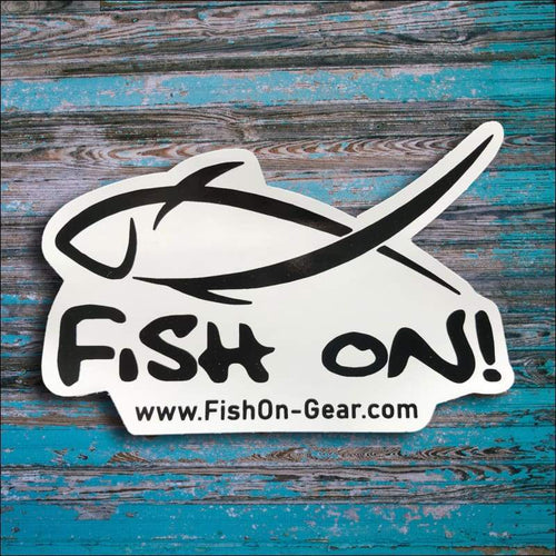 Fish On Decal Medium 5 x 3 - Decal