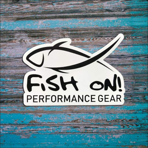 Fish On Magnet 3 x 2 Small - Decals