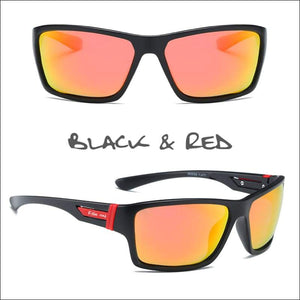 Oculus HD Polarized Sunglasses - 4 Styles - Black/Red - Sunglasses