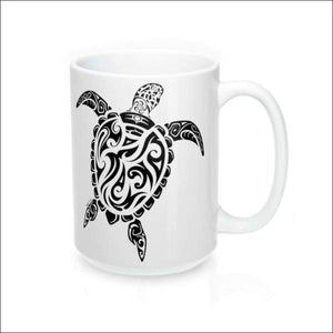 Polynesian Sea Turtle Mug 15 oz - 4 Colors Available - Drinkware