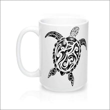 Load image into Gallery viewer, Polynesian Sea Turtle Mug 15 oz - 4 Colors Available - White - Drinkware