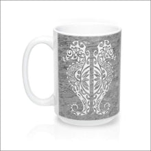 Load image into Gallery viewer, Polynesian Seahorse Mug 15 oz - 4 Color Choices - Gray - Drinkware