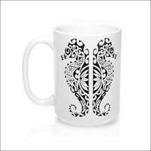Load image into Gallery viewer, Polynesian Seahorse Mug 15 oz - 4 Color Choices - White - Drinkware
