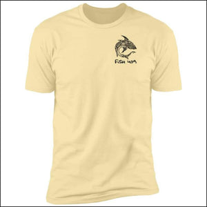 Polynesian Shark - Premium Short Sleeve Unisex T-Shirt - 6 Colors - Banana Cream / S - T-Shirts