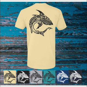 Polynesian Shark - Premium Short Sleeve Unisex T-Shirt - 6 Colors - T-Shirts