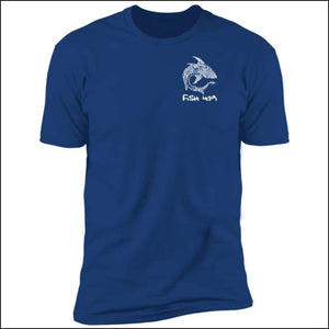 Polynesian Shark - Premium Short Sleeve Unisex T-Shirt - 6 Colors - Royal / S - T-Shirts