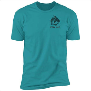 Polynesian Shark - Premium Short Sleeve Unisex T-Shirt - 6 Colors - Tahiti Blue / S - T-Shirts