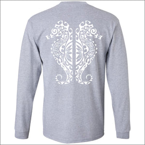 Seahorse Design Long Sleeve Ultra Cotton T-Shirt - 3 Colors - T-Shirts