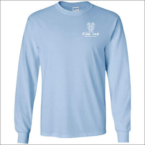 Seahorse Design Long Sleeve Ultra Cotton T-Shirt - 3 Colors - Light Blue / S - T-Shirts
