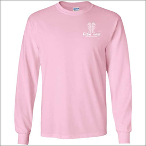 Seahorse Design Long Sleeve Ultra Cotton T-Shirt - 3 Colors - Light Pink / S - T-Shirts