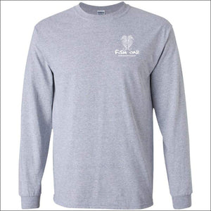 Seahorse Design Long Sleeve Ultra Cotton T-Shirt - 3 Colors - Sport Grey / S - T-Shirts