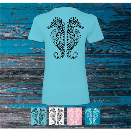 Seahorse Premium Ladies Boyfriend T-Shirt - 4 Colors - T-Shirts