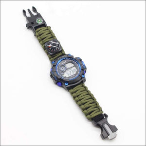 Survival Multi Function Watch - 2 Colors - Green Band - Watch